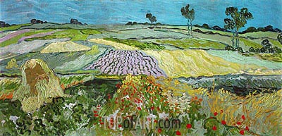 Fields near Auvers, 1890 | Vincent van Gogh | Painting Reproduction
