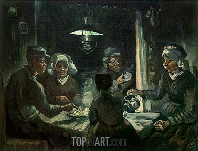 The Potatoes-Eater, 1885 | Vincent van Gogh| Painting Reproduction