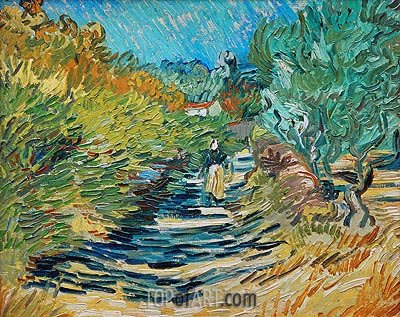 The Road to Saint-Remy, 1889 | Vincent van Gogh| Painting Reproduction