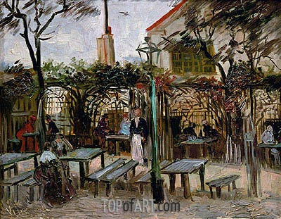 Pleasure Gardens at Montmartre, 1886 | Vincent van Gogh | Painting Reproduction