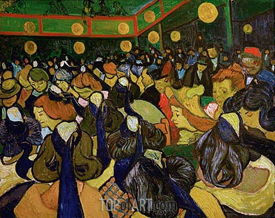 The Dance Hall at Arles (Ball in Arles), 1888 | Vincent van Gogh| Painting Reproduction