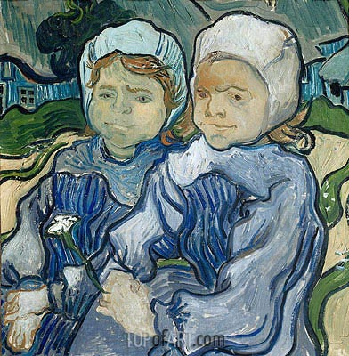 Two Little Girls, 1890 | Vincent van Gogh | Painting Reproduction