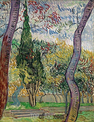 Park of the Saint-Paul Hospital, 1889 | Vincent van Gogh| Painting Reproduction