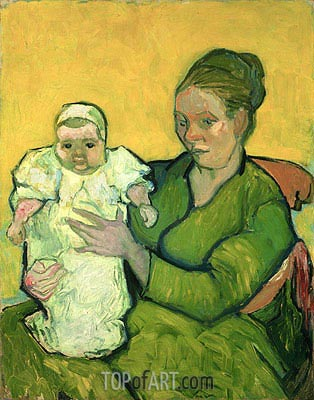 Portrait of Madame Augustine Roulin and Baby Marcelle, c.1888/89 | Vincent van Gogh | Painting Reproduction
