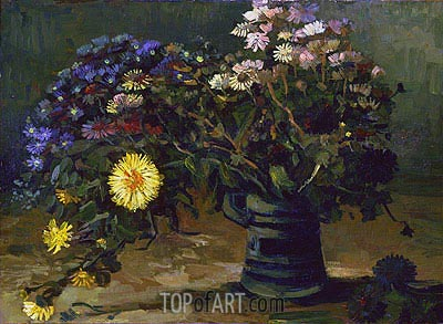 Still Life with a Bouquet of Daisies, 1886 | Vincent van Gogh | Gemälde Reproduktion