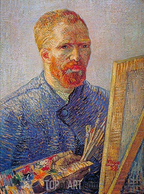 Self Portrait at the Easel, c.1887/88 | Vincent van Gogh| Painting Reproduction