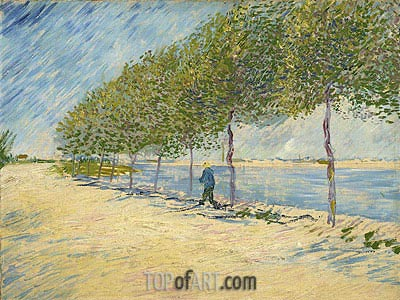 Along the Seine, 1887 | Vincent van Gogh | Painting Reproduction