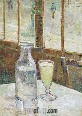 Café Table with Absinth, 1887   Vincent van Gogh   Gemälde Reproduktion
