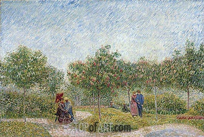 Garden with Courting Couples: Square Saint-Pierre, 1887 | Vincent van Gogh | Painting Reproduction