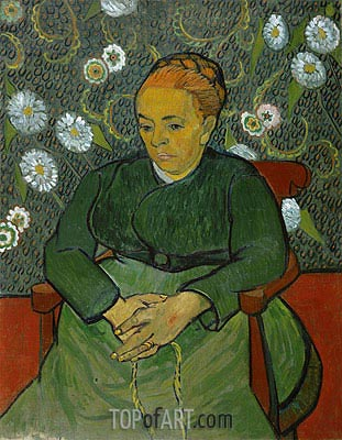 La Berceuse (Portrait of Madame Roulin), c.1888/89 | Vincent van Gogh| Painting Reproduction