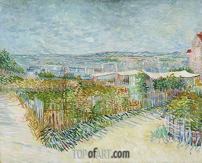 Montmartre: Behind the Moulin de la Galette, 1887 | Vincent van Gogh | Painting Reproduction
