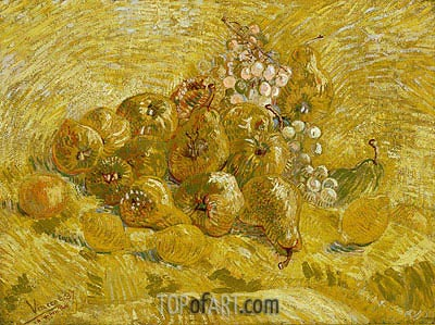 Quinces, Lemons, Pears and Grapes, 1887 | Vincent van Gogh | Painting Reproduction