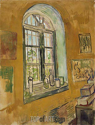Window in the Studio, 1889 | Vincent van Gogh| Painting Reproduction