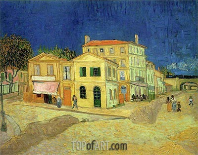The Yellow House, 1888 | Vincent van Gogh| Painting Reproduction