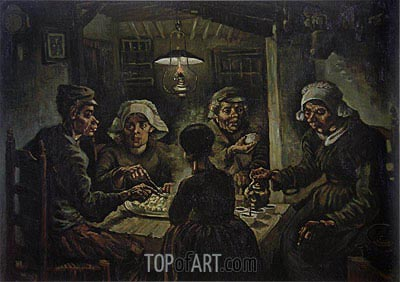 The Potato Eaters, 1885 | Vincent van Gogh| Painting Reproduction