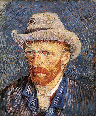 Self Portrait with Felt Hat, 1888 | Vincent van Gogh| Painting Reproduction