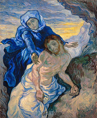 Pieta (after Delacroix), 1889 | Vincent van Gogh| Painting Reproduction