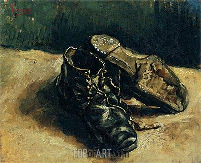 A Pair of Shoes, 1886 | Vincent van Gogh | Gemälde Reproduktion