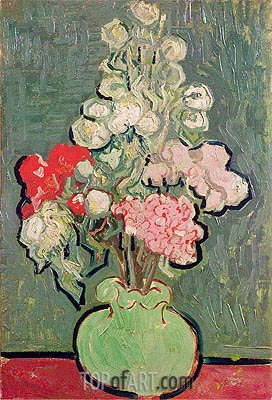 Bouquet of Flowers, 1890 | Vincent van Gogh| Painting Reproduction