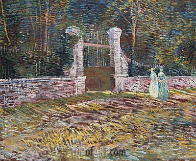 Entrance to the Voyer-d'Argenson Park at Asnieres, 1887 | Vincent van Gogh | Painting Reproduction