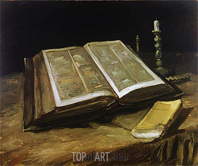 Still Life with Bible, 1885 | Vincent van Gogh| Gemälde Reproduktion