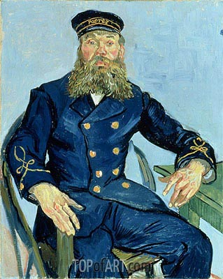 Postman Joseph Roulin, 1888 | Vincent van Gogh | Painting Reproduction