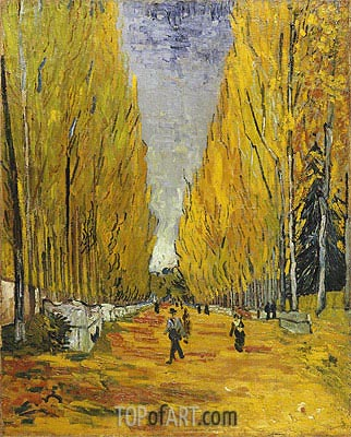 L'Allee des Alyscamps, Arles, 1888 | Vincent van Gogh | Painting Reproduction