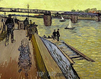 The Bridge Trinquetaille in Arles, 1888 | Vincent van Gogh| Gemälde Reproduktion