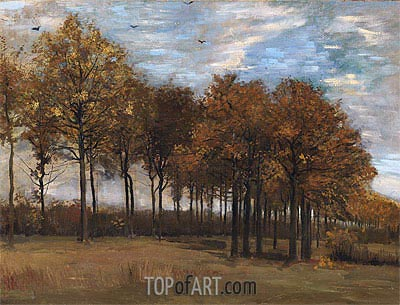 Autumn Landscape, c.1885 | Vincent van Gogh| Painting Reproduction