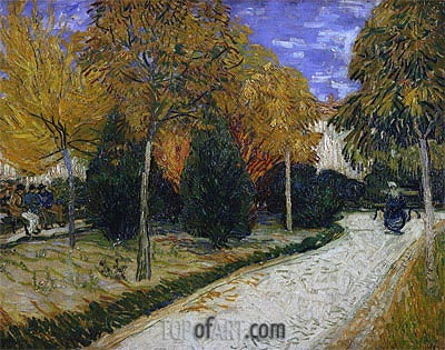 Path in the Park at Arles, 1888 | Vincent van Gogh | Gemälde Reproduktion