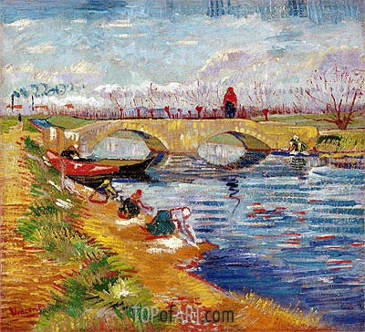 The Gleize Bridge over the Vigneyret Canal, near Arles, 1888 | Vincent van Gogh| Gemälde Reproduktion