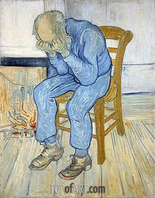 Old Man in Sorrow (On the Threshold of Eternity), 1890 | Vincent van Gogh| Painting Reproduction