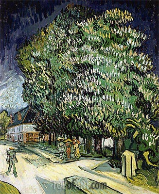 Chestnut Trees in Blossom, Auvers-sur-Oise, 1890 | Vincent van Gogh| Painting Reproduction