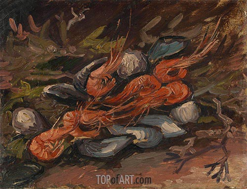 Vincent van Gogh | Prawns and Mussels, 1886