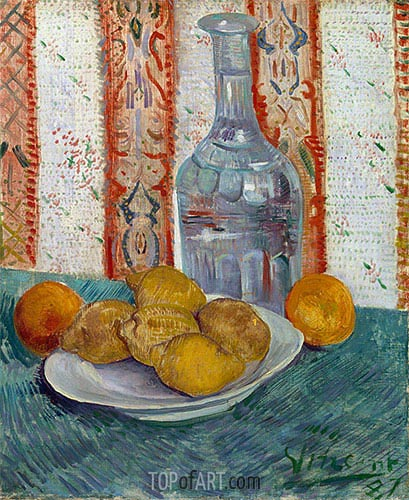Vincent van Gogh | Carafe and Dish with Citrus Fruit, 1887