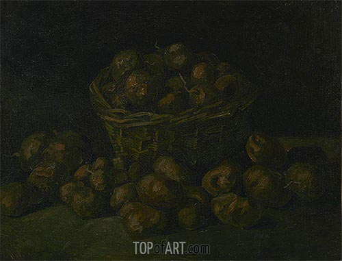Basket of Potatoes, 1885 | Vincent van Gogh | Painting Reproduction