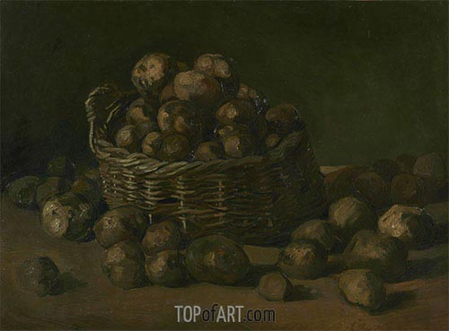 Basket of Potatoes, 1885 | Vincent van Gogh | Painting Reproduction