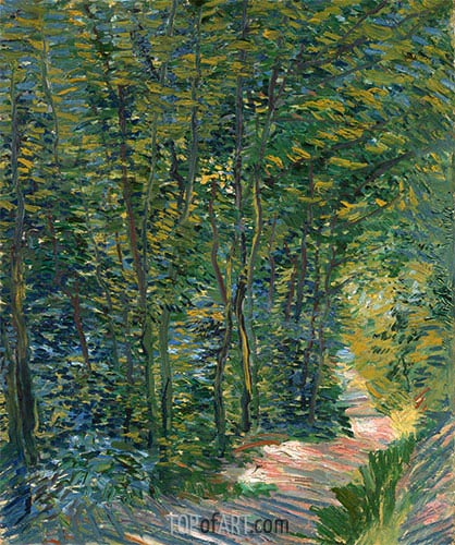Weg im Holz, 1888 | Vincent van Gogh | Gemälde Reproduktion
