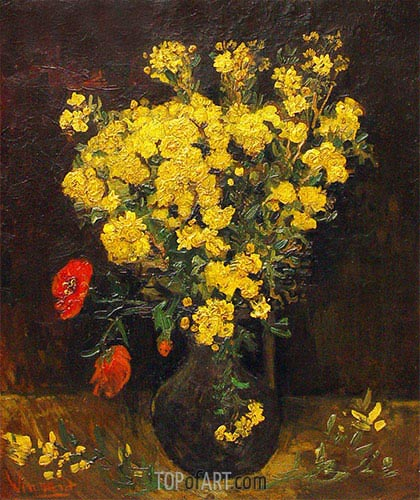 Vincent van Gogh | Vase with Poppy Flowers, 1887