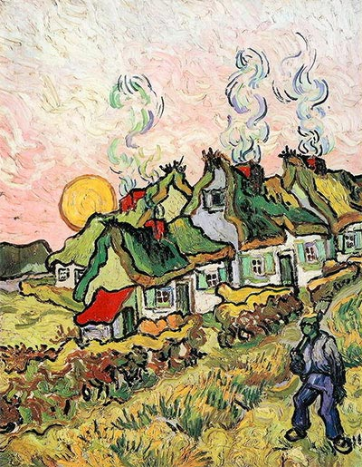 Vincent van Gogh | Cottages in the Sunshine - Reminiscence of the North, undated