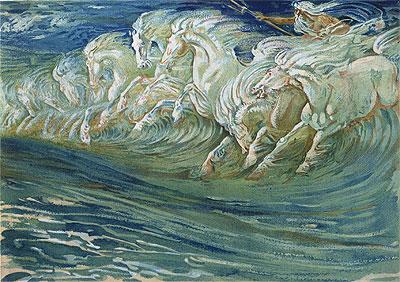 Walter Crane | Neptuns Pferde, 1910