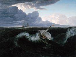 Rising of a Thunderstorm at Sea, 1804 by Washington Allston | Painting Reproduction