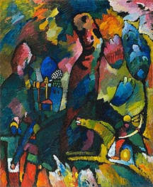 Picture with an Archer, 1909 by Kandinsky | Painting Reproduction