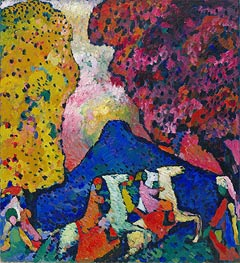 Blue Mountain, c.1908/09 by Kandinsky | Painting Reproduction