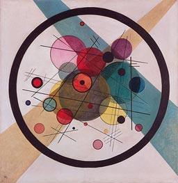 Circles in a Circle, 1923 von Kandinsky | Gemälde-Reproduktion