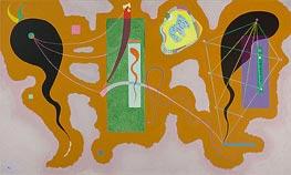 Penetrating Green, 1938 von Kandinsky | Gemälde-Reproduktion