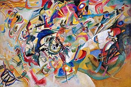 Composition No. 7, 1913 by Kandinsky | Painting Reproduction