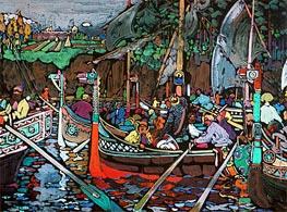 Song of the Volga, 1906 von Kandinsky | Gemälde-Reproduktion