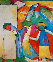 Improvisation No. 6 (Africans), 1909 by Kandinsky | Painting Reproduction