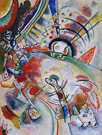 Non-Objective, 1910 by Kandinsky | Painting Reproduction